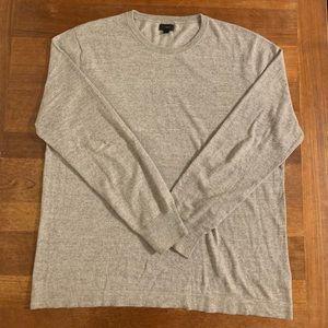 J. Crew Men's Gray Crew Neck Long Sleeve Sweater L